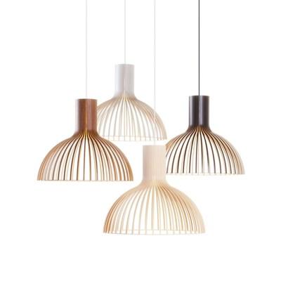 Светильник в эко-стиле из деревянных ламелей - фото 8424