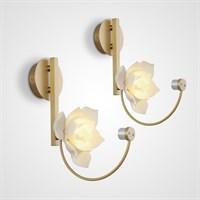 Настенный светильник с керамическим плафоном в виде цветка MAGNOLIA WALL