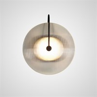 Дизайнерский настенный светильник в виде диска из рифленого стекла EMMEN