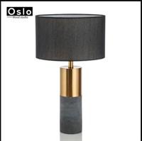Современная модная настольная лампа для спальни. Прикроватный черный абажур
