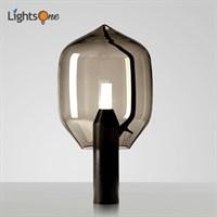 Современный, мраморный настольный светильник для гостиной. Стеклянная настольная лампа для спальни