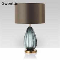 Современная, роскошная, витражная, настольная лампа со светодиодной подставкой для гостиной, спальни