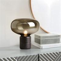 Скандинавский, светодиодный, настольный светильник для спальни. Мраморная, стеклянная, настольная лампа для гостиной, для дома