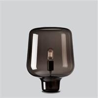 Серая, стеклянная лампа для спальни, прикроватная
