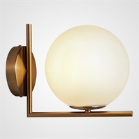 Настенный светильник в скандинавском стиле со стеклянным плафоном-шаром