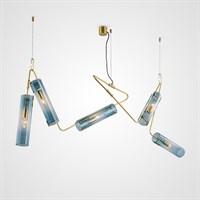 Дизайнерский светильник DRAFT со стеклянными плафонами трубчатой формы
