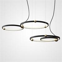 Серия подвесных светильников PLANETARY в виде комбинаций колец со светодиодной подсветкой