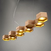 ЛЮСТРА HONEYCOMB 7 LOFT WOODEN ECOLIGHT