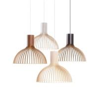 Светильник в эко-стиле из деревянных ламелей
