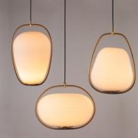 Оригинальный стеклянный светильник-подвес