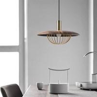 Дизайнерский подвесной светильник с плафоном из дерева