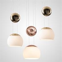 Дизайнерский подвесной светильник со стеклянным плафоном