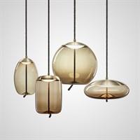 Серия подвесных светильников в скандинавском стиле из цветного стекла